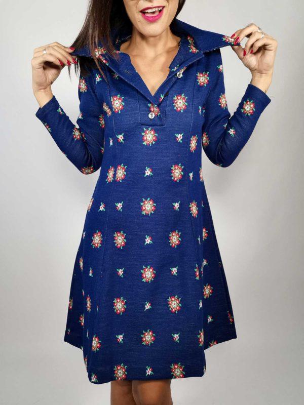 abito donna vintage scritto-lana