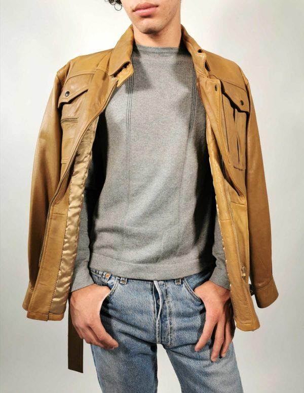 giacca pelle vintage