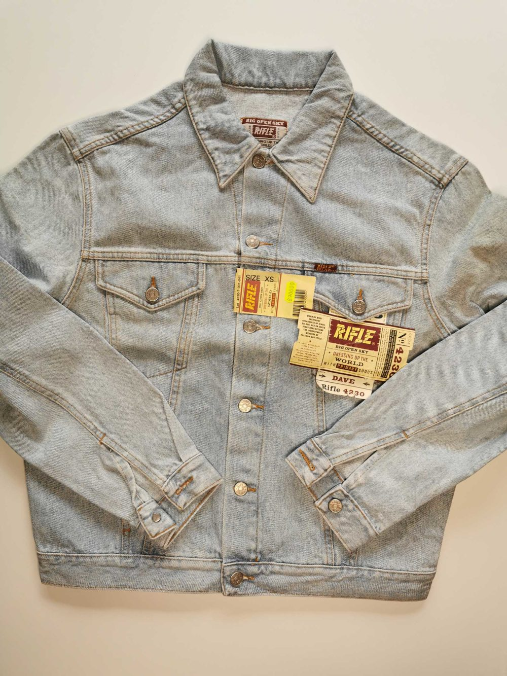 giacca jeans vintage rifle originale anni 90