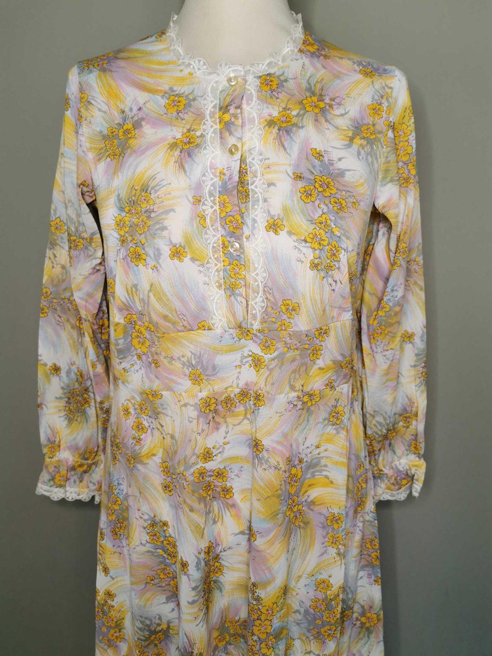 camicia da notte vintage originale anni 70